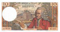 France 10 Francs Voltaire - 05-03-1970 Serial M.577 - UNC