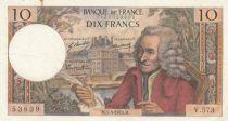 France 10 Francs Voltaire - 05-03-1970 Serial V.573 - VF