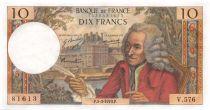 France 10 Francs Voltaire - 05-03-1970 Série V.576 - SPL