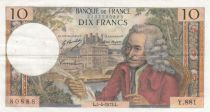 France 10 Francs Voltaire - 05-04-1973 Serial Y.8814 - VF
