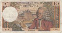 France 10 Francs Voltaire - 05-09-1968 Série F.423 - TB