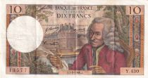 France 10 Francs Voltaire - 05-09-1968 Série Y.430 - TTB