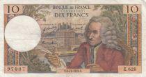France 10 Francs Voltaire - 05-11-1970 - Série E.628