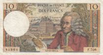 France 10 Francs Voltaire - 05-11-1971 Série F.706 - TB+