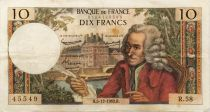 France 10 Francs Voltaire - 05-12-1963 Serial R.58 - VF