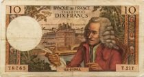 France 10 Francs Voltaire - 06-01-1966 Serial T.217 - F