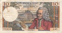 France 10 Francs Voltaire - 06-02-1964 Serial Z.80 - F+