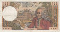 France 10 Francs Voltaire - 06-03-1969 Série T.478 - TB+