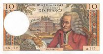 France 10 Francs Voltaire - 06-07-1967 Serial A.335 - XF