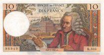 France 10 Francs Voltaire - 06-07-1967 Série K.335 - TTB
