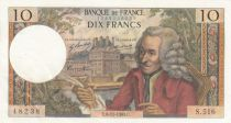 France 10 Francs Voltaire - 06-11-1969 Serial S.516 - XF