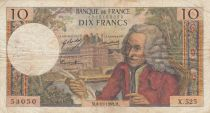 France 10 Francs Voltaire - 06-11-1969 Serial S.525 - F