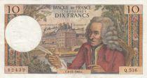 France 10 Francs Voltaire - 06-11-1969 Série Q.516 - TTB
