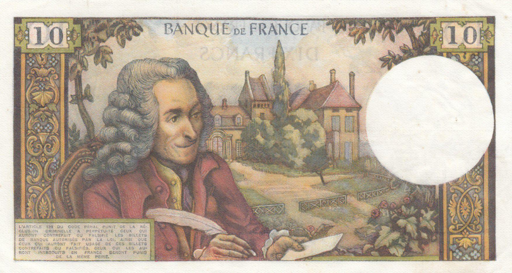 France 10 Francs Voltaire - 06-11-1969 Série S.516 - SUP