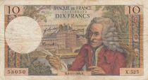 France 10 Francs Voltaire - 06-11-1969 Série X.525 - TB