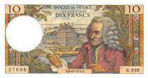France 10 Francs Voltaire - 06-12-1973 Serial R.939 - UNC