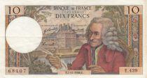France 10 Francs Voltaire - 07-01-1968 Série E.439 - TTB