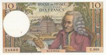 France 10 Francs Voltaire - 07-06-1973 Serial U.888 - XF