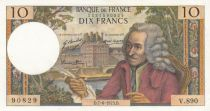 France 10 Francs Voltaire - 07-06-1973 Serial V.890 - XF+