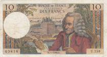 France 10 Francs Voltaire - 07-07-1966 Série U.253 - TB+