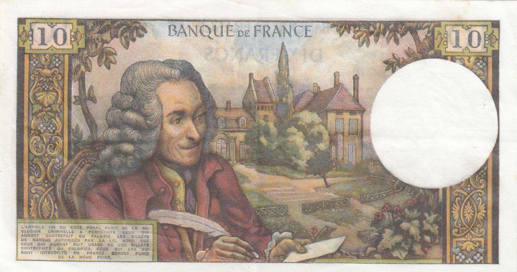 France 10 Francs Voltaire - 07-08-1969 - Série E.506