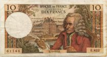 France 10 Francs Voltaire - 07-09-1972 Serial E.822 - F