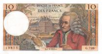 France 10 Francs Voltaire - 07-09-1972 Serial G.799 - UNC
