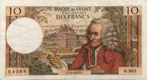 France 10 Francs Voltaire - 07-09-1972 Serial O.801 - F to VF