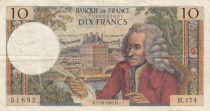 France 10 Francs Voltaire - 07-10-1965 Série H.174 - TB+