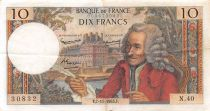 France 10 Francs Voltaire - 07-11-1963 Serial N.40 - VF+