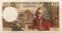 France 10 Francs Voltaire - 07-11-1963 Serial O.39 - VF