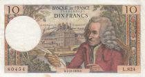 France 10 Francs Voltaire - 07-12-1972 - Série L.824