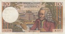 France 10 Francs Voltaire - 08-01-1965 Serial B.117 - F+