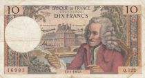 France 10 Francs Voltaire - 08-01-1965 Serial Q.122 - F