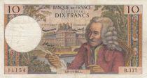 France 10 Francs Voltaire - 08-01-1965 Série B.117 - TB+