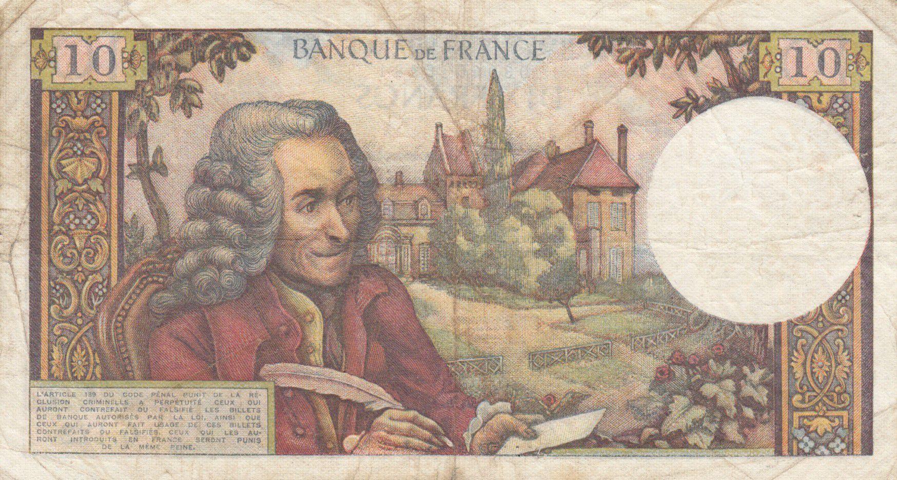 France 10 Francs Voltaire - 08-01-1965 Série Q.122 - TB
