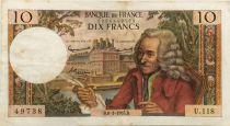France 10 Francs Voltaire - 08-01-1965 Série U.118 - TTB