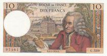 France 10 Francs Voltaire - 08-01-1970 Serial G.539 - AU