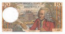 France 10 Francs Voltaire - 08-01-1971 Serial F.650 - AU