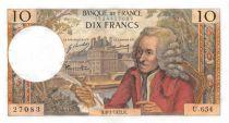 France 10 Francs Voltaire - 08-01-1971 Série U.654 - SUP