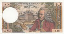 France 10 Francs Voltaire - 08-05-1969 Serial Z.493 - AU