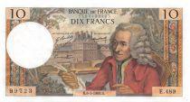 France 10 Francs Voltaire - 08-05-1969 Série E.489 - TTB+