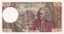 France 10 Francs Voltaire - 08-05-1969 Série J.496 - SPL