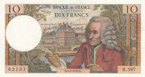 France 10 Francs Voltaire - 08-05-1970 Serial H.587 - AU