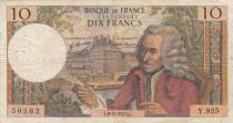 France 10 Francs Voltaire - 08-11-1973 Serial Y.925 - F