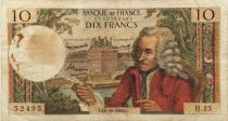 France 10 Francs Voltaire - 10-10-1963 Serial H.25 - F