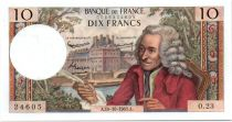 France 10 Francs Voltaire - 10-10-1963 Serial O.23