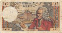 France 10 Francs Voltaire - 10-10-1963 Série V.30 - TB