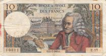 France 10 Francs Voltaire - 11-07-1963 Serial E.17 - VG to F
