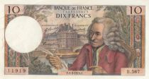 France 10 Francs Voltaire - B.567 - 05-03-1970